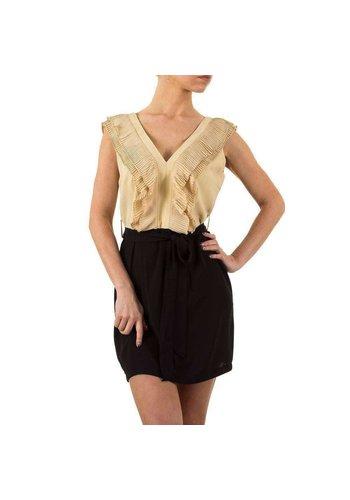 D5 Avenue Damen Kleid von Jumpo - beige