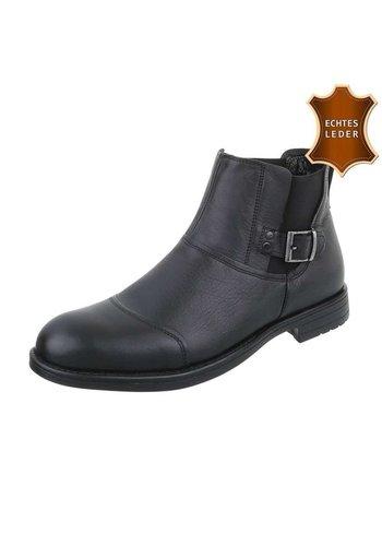 D5 Avenue Leder Stiefeletten in Leder schwarz