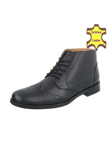 D5 Avenue Leder Herren Stiefeletten - black