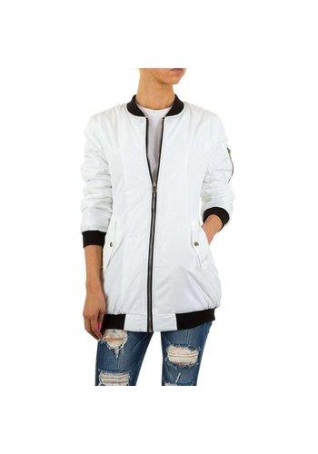 D5 Avenue Damen Jacke von Hf Fashion - white