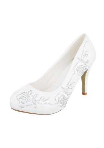 D5 Avenue Damen High Heels - white