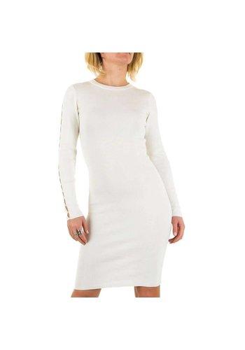 D5 Avenue Damen Kleid von Jcl Paris - weiß
