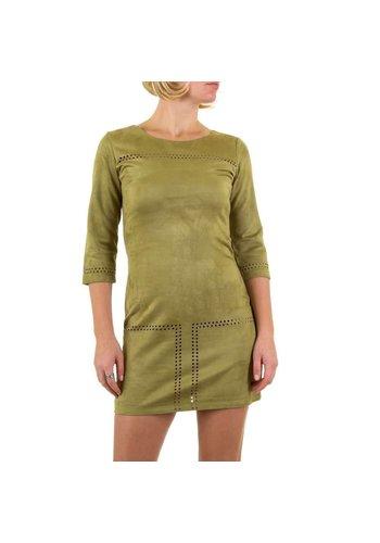 D5 Avenue Damen Kleid von Shk Mode - khaki