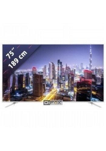 HiSense LED TVH75N5800 4-Zoll-Ultra-HD-Smart-TV mit 190,5 cm (75 '') WLAN, Schwarz, Metallic, Silber