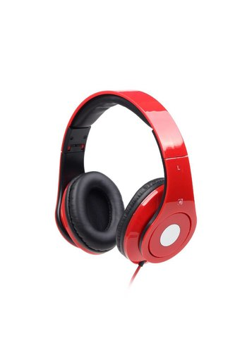 GMB-Audio Faltbares Stereo Headset 'Detroit', rot