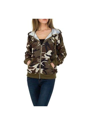 JCL Damen Sweatjacke von JCL - camouflage