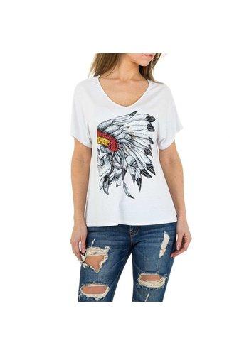 JCL Damen Shirt von JCL - white