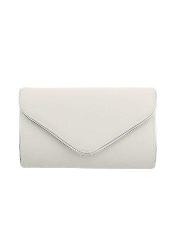D5 Avenue Damen Clutch-Off-White