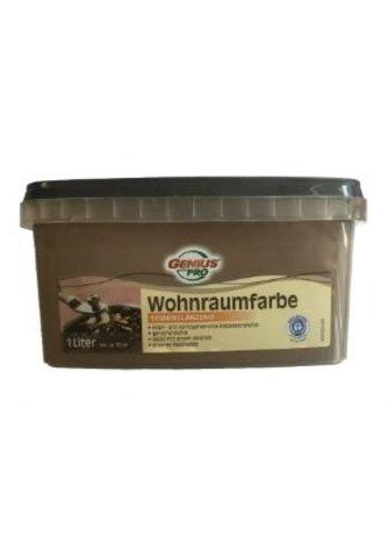 Genius Pro Wandfarbe - seidenglänzend - schokolade - 1 liter