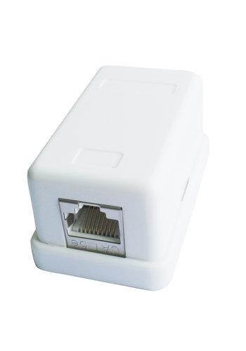 CableXpert CAT5E Aufputz-Dose mit Einzelsteckplatz, weiß