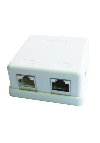 CableXpert 2-Port LAN-Anschluss Dose, auf Putz