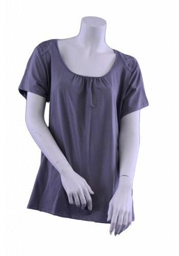 George T-Shirt übergroß mit Nieten an der Schulter