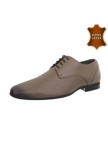 D5 Avenue Business Lederschuhe für Männer - grau