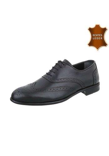 D5 Avenue Schwarze Leder Business Schuhe für Männer