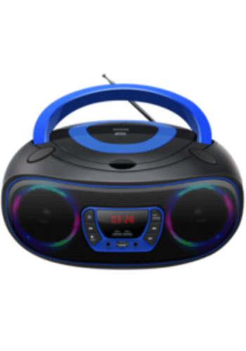 Denver Boombox mit Bluetooth Blau