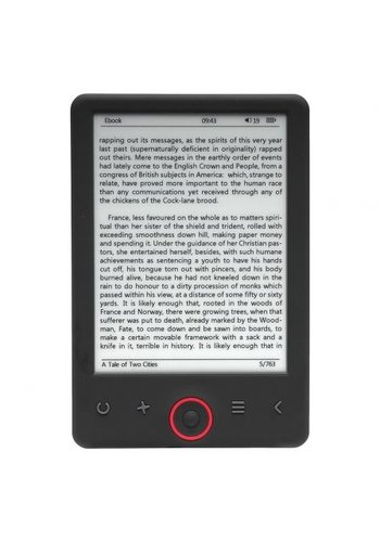 "Denver E-Book-Reader EBO-620 mit 6 ""E-INK-Panel"