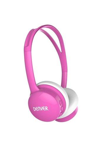 Denver Kinderkopfhörer mit Lautstärkebegrenzung pink