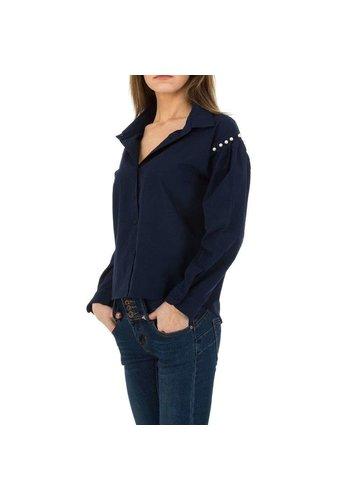 JCL Damen Hemdbluse von JCL - D.blau