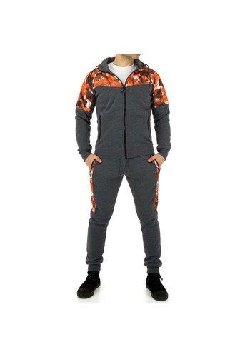 D5 Avenue Herren Trainingsanzug von Fashion Sport - grau