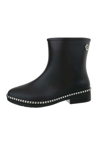 D5 Avenue Damen Gummistiefeletten - black