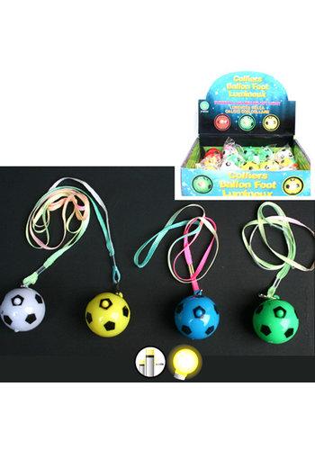 Fussball-Halsband 4cm Durchmesser mit Licht