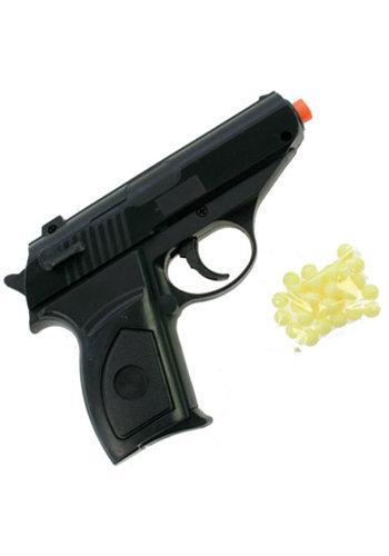 Pistole mit Magazin + 15 Kugeln 12x9cm im Polybag