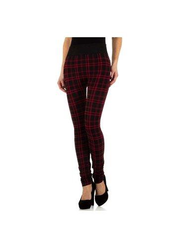 HOLALA Damenleggings von Holala Gr. One Size - schwarz mit roter Raute