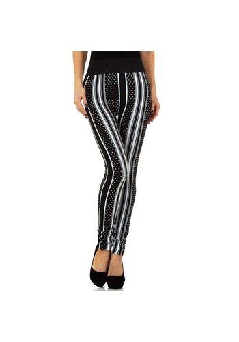 HOLALA Damenleggings von Holala Gr. Einheitsgröße - schwarz mit weißen Streifen