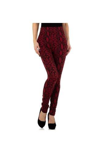 HOLALA Damenleggings von Holala Gr. One Size - rot schwarz