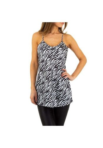 D5 Avenue Damenoberteil von Emmash Paris - Zebra weiß