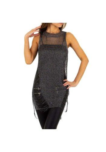 EMMA&ASHLEY DESIGN Damenhemd von Emma & Ashley Design Gr. One Size - schwarz silber