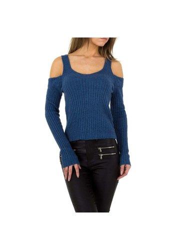 JCL Damen Pullover von JCL Gr. One Size - blau
