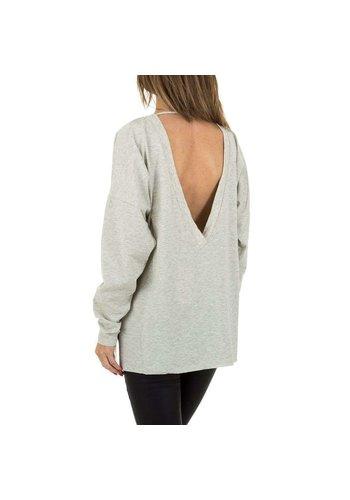 JCL Damen Pullover von JCL Gr. One Size - grau