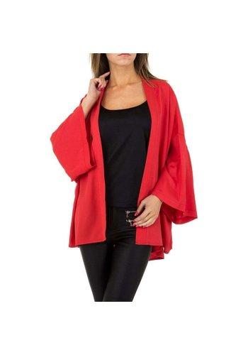 JCL Damen Jacke von JCL Gr. One Size - rot