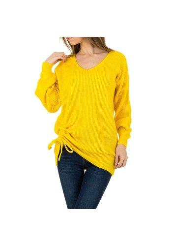 D5 Avenue Damen Pullover von Milas Gr. One Size - gelb