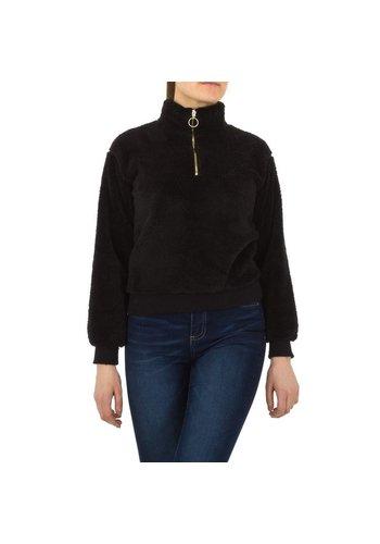 D5 Avenue Voyelles Damen Sweatshirt - schwarz
