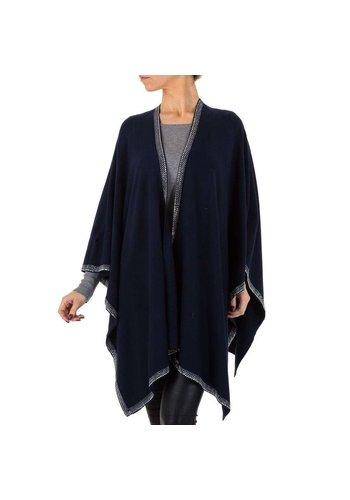 D5 Avenue Damen Strickjacke von Voyelles Gr. One Size - D.blau