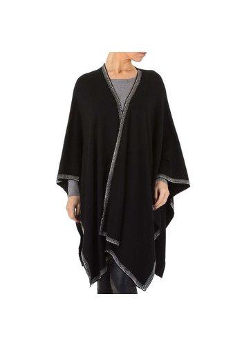 D5 Avenue Damen Strickjacke von Voyelles Gr. One Size - schwarz