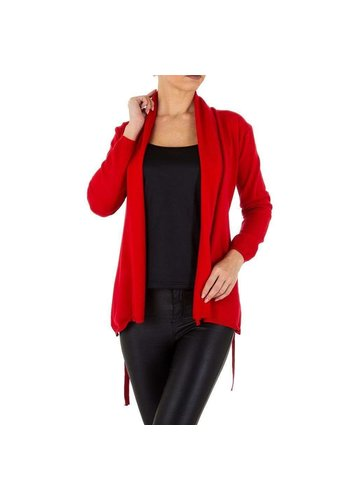 D5 Avenue Damen Strickjacke von Emmash Paris Gr. One Size - rot
