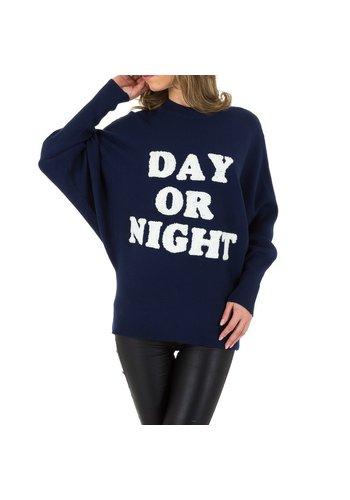 D5 Avenue Damen Pullover von Voyelles Gr. One Size - D.blau