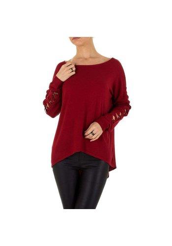 D5 Avenue Damen Pullover Gr. one size - rot