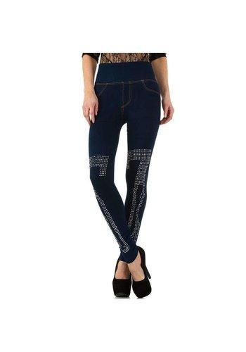 D5 Avenue Damenleggings von D & M Fashion Design Gr. eine Größe - blau