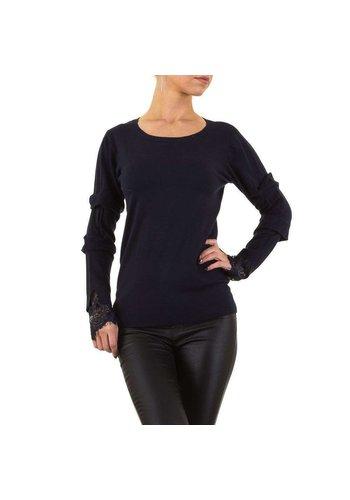 MOEWY Damen Pullover von Moewy Gr. one size - D.blau