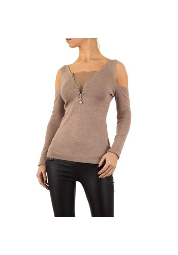 MOEWY Damen Pullover von Moewy Gr. one size - taupe