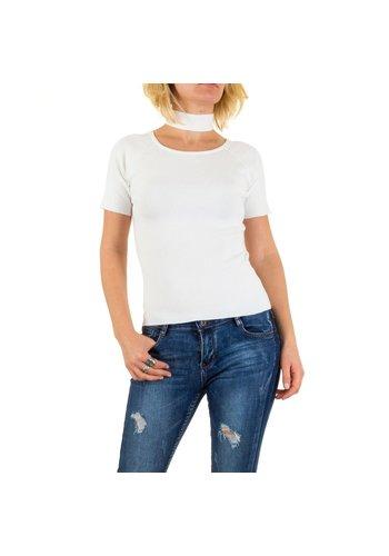 D5 Avenue Damenpullover von Jcl Paris Gr. one size - weiß