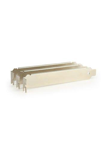 Gembird Low-Profile PCI / PCI-E Slotblech, unbelüftet (3 Stück)