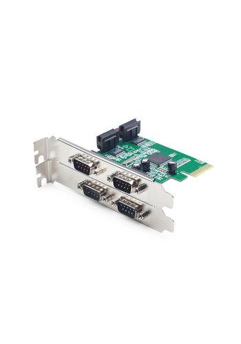 Gembird 4 serial port PCI-Express Add-On Karte