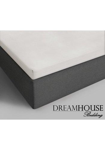 Dreamhouse Spannbetttuch Creme aus Baumwolle