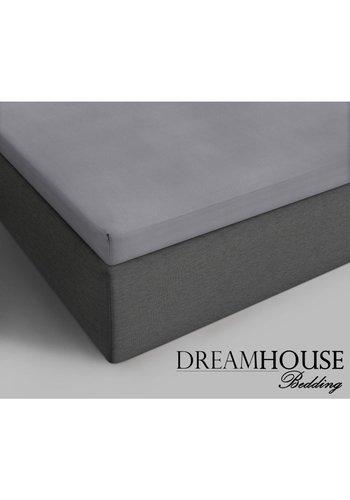 Dreamhouse Baumwoll-Topper Spannbetttuch Grau