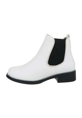 D5 Avenue Damen Chelsea Boots - weiß